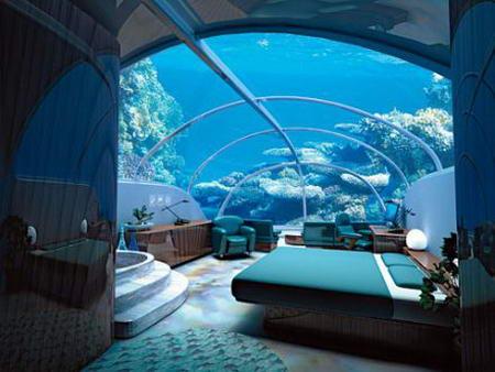 L'albergo sottomarino a Key Longe, Florida
