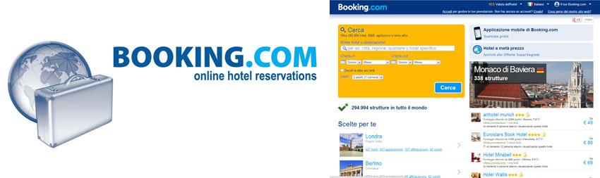 Booking.com uno dei colossi del turismo online